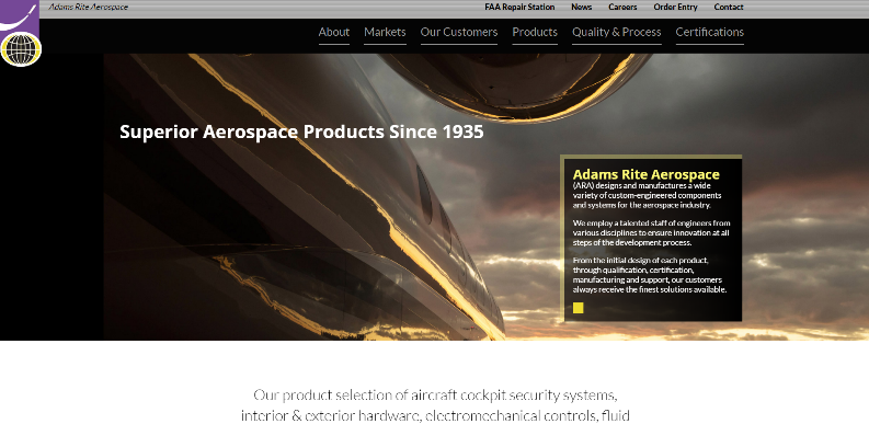 Adam Rite Aerospace Website