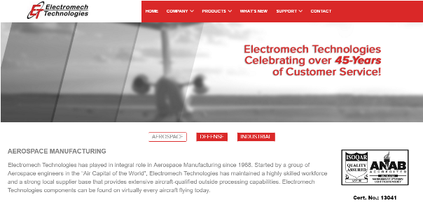 Electromech Technologies Website