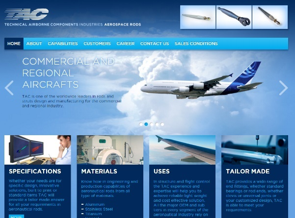 Technical Airborne Components Industries Website