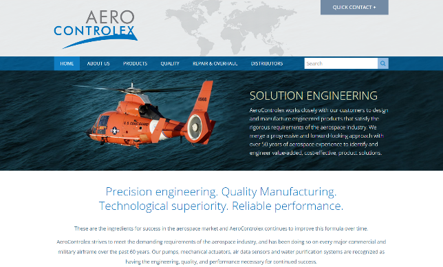 Aero Controllex Website