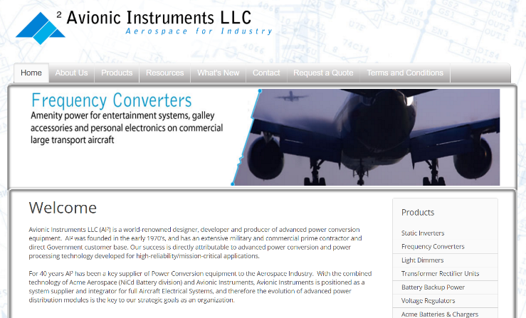 Avionic Instruments Website