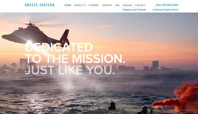 Breeze Eastern Website