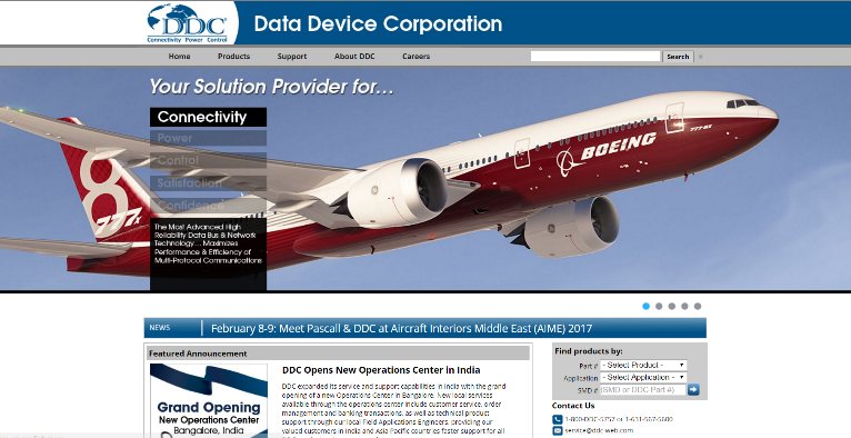 Data Device Corporation Website