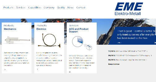 Elektro-Metall Export Website