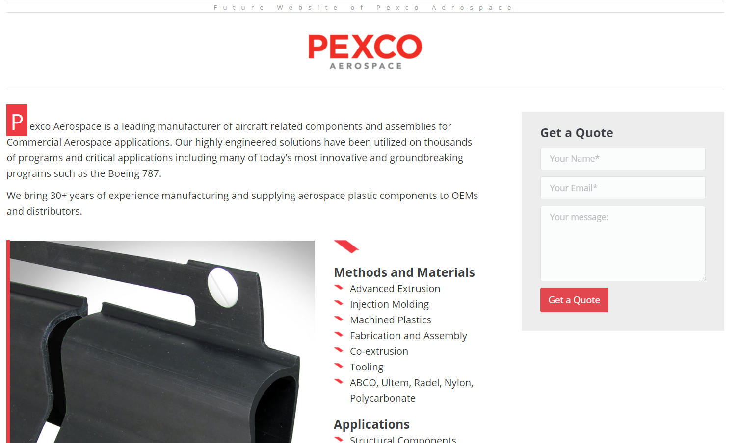 Pexco Aerospace Website