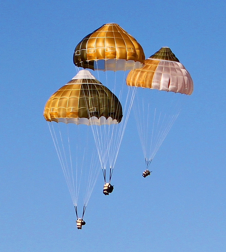 Ejection seat parachutes range